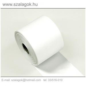 7cm-es fehér feliratozható szalag