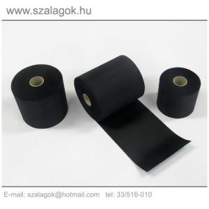9cm-es fekete feliratozható szalag