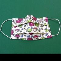 Mosható, textil szájmaszk vírus mintával