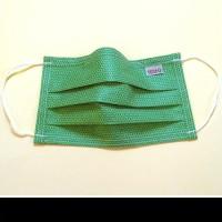 Mosható, textil szájmaszk, zöld mintás