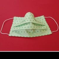Mosható, textil szájmaszk zöld-pöttyös mintával