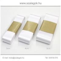 4cm széles szatén szalag 10m C01-fehér