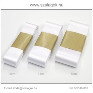 3cm széles szatén szalag 10m C01-fehér