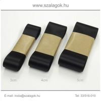 3cm széles szatén szalag 10m  C02-fekete