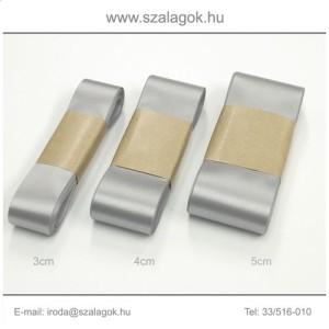 5cm széles szatén szalag 10m C03-ezüst