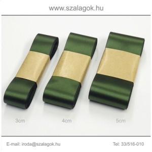 3cm széles szatén szalag 10m C05-olajzöld