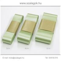 4cm széles szatén szalag 10m C06-borsózöld