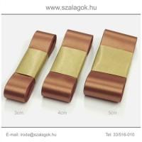 3cm széles szatén szalag 10m C08-bronz