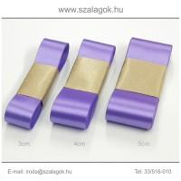 3cm széles szatén szalag 10m C10-lila