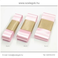 4cm széles szatén szalag 10m C11-pink