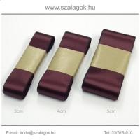 3cm széles szatén szalag 10m C13-bordó