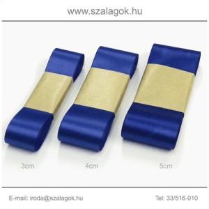 5cm széles szatén szalag 10m C15-királykék