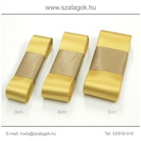 3cm széles szatén szalag 10m C20-arany