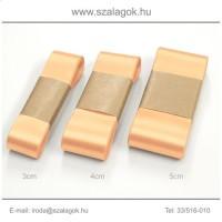 4cm széles szatén szalag 10m C21-barack