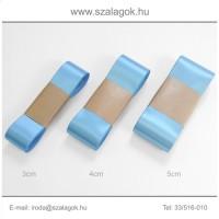 4cm széles szatén szalag 10m  C26-türkizkék