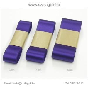 4cm széles szatén szalag 10m C32-írisz-lila