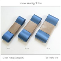 4cm széles szatén szalag 10m C36-kék