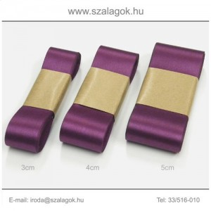 5cm széles szatén szalag 10m C40-bíbor