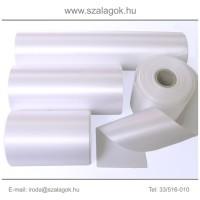 7cm széles szatén szalag 25m C01-fehér
