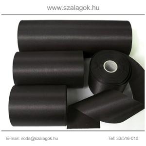 7cm széles szatén szalag 25m  C02-fekete