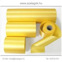 7cm széles szatén szalag 25m C30-napsárga