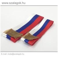 5 X 150cm-es Szlovák, Szerb, Orosz szalag, arany rojtos - 2db/cs