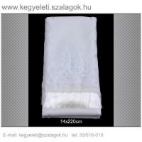 14cm x 220 cm  lasszé hímzett (fehér)  koszorúszalag 5db/csomag
