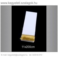 11cm x 200 cm  koszorúszalag, arany rojttal. 10db/csomag