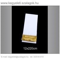 12cm x 220 cm  koszorúszalag, arany rojttal. 10db/csomag