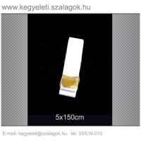 5cm x 150 cm  sírcsokor szalag, arany rojttal. 10db/csomag