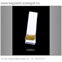 7cm x 200 cm  sírcsokor szalag, arany rojttal. 10db/csomag