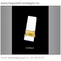 7cm x 150 cm  sírcsokor szalag, arany rojttal. 10db/csomag