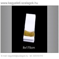 8cm x 170 cm  sírcsokor szalag, arany rojttal. 10db/csomag