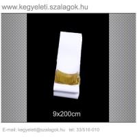 9cm x 200 cm  sírcsokor szalag, arany rojttal. 10db/csomag