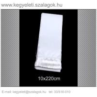 10cm x 220 cm  koszorúszalag, fehér rojttal. 10db/csomag