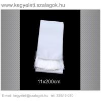 11cm x 200 cm  koszorúszalag, fehér rojttal. 10db/csomag
