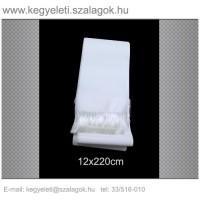 12cm x 220 cm  koszorúszalag, fehér rojttal. 10db/csomag