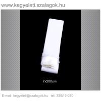 7cm x 200 cm  sírcsokor szalag, fehér rojttal. 10db/csomag