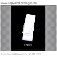 7cm x 150 cm  sírcsokor szalag, fehér rojttal. 10db/csomag