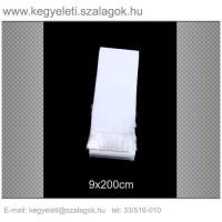9cm x 200 cm  sírcsokor szalag, fehér rojttal. 10db/csomag