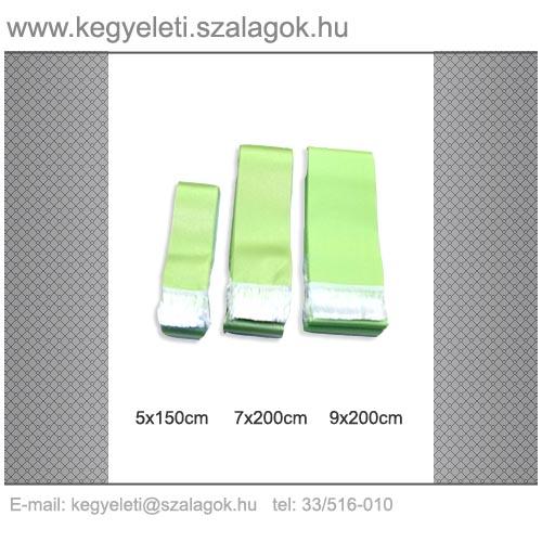 5cm x 150 cm szatén sírcsokor szalag C04-almazöld 24e0cd634b