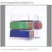 7cm x 200 cm  szatén sírcsokor szalag, 10db/csomag
