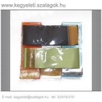9cm x 200 cm  szatén sírcsokor szalag, 10db/csomag